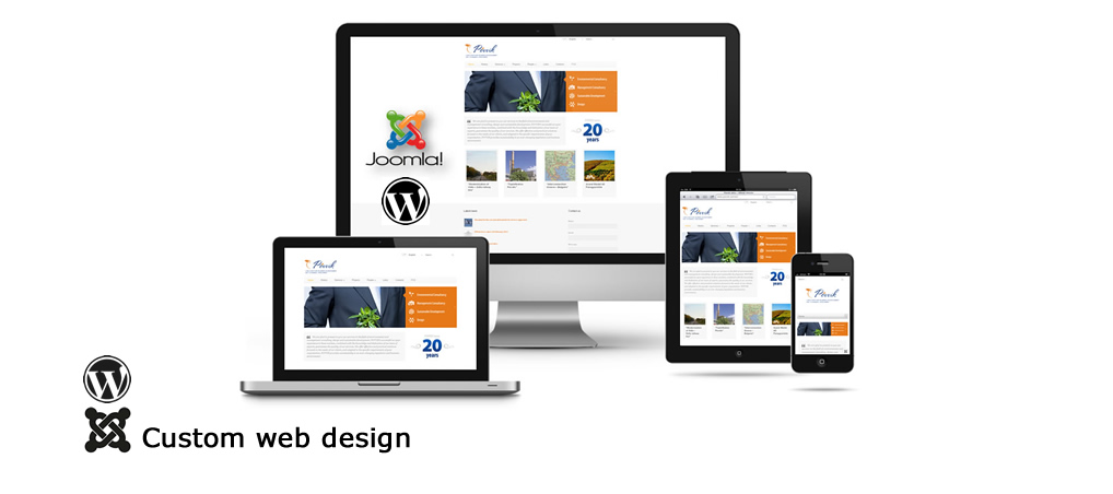 Custom web design - Joomla Wordpress PHP MySql CSS JS HTML